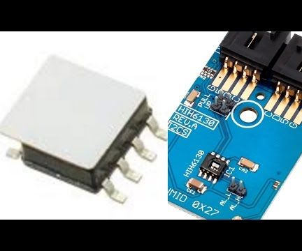 Humidity and Temperature Measurement using HIH6130 and Arduino nano