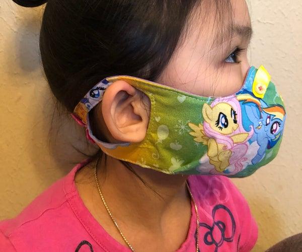 Kids Standard Cloth Mask W/ Ear-Keyhole