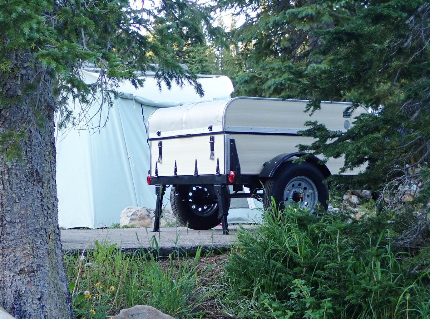 Retro-Style Camping Gear Trailer
