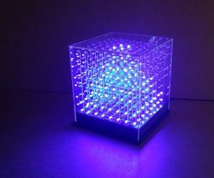 JolliCube - an 8x8x8 LED Cube (SPI)