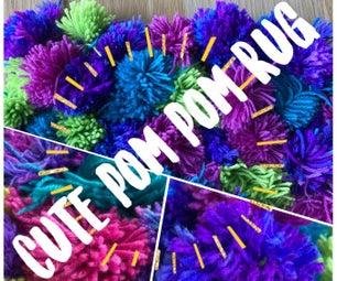 Cute Pom- Pom Rug