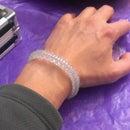 Bracelet with IV medical tubing