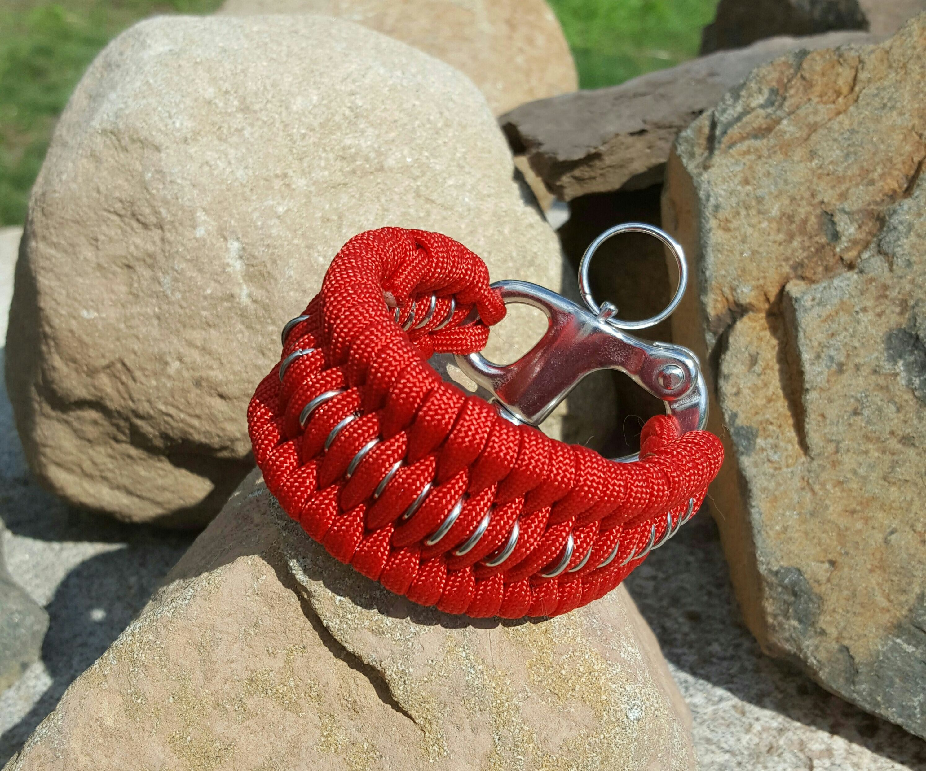 Chain Mail Trilobite Paracord bracelet