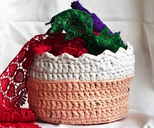 Old T-shirt to New Crochet Bowl