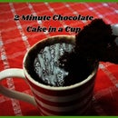 2 Minute Chocolate Cake in a Cup