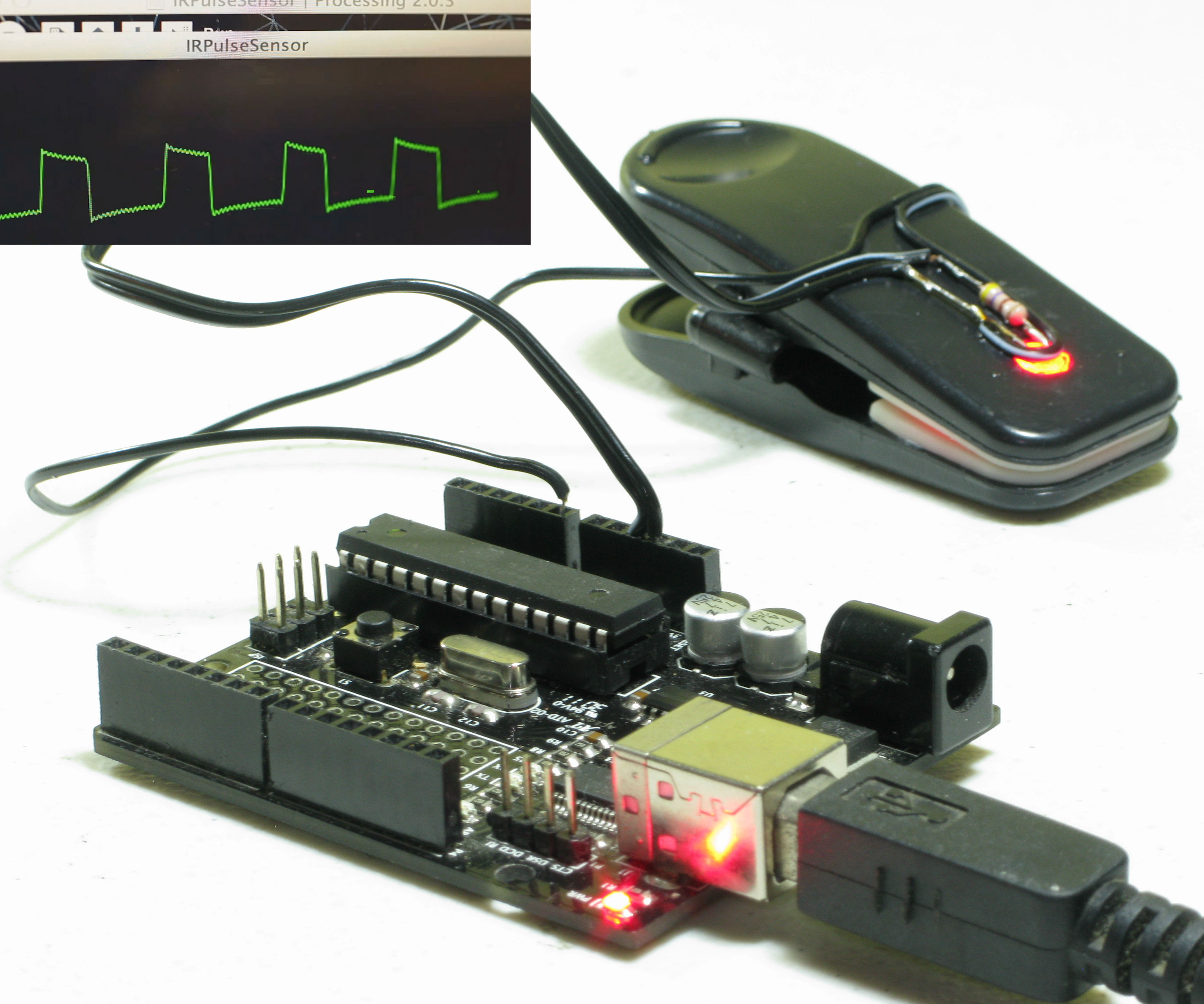Homebrew Arduino Pulse Monitor (Visualize Your Heartbeat)