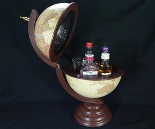 Miniature Bar Globe for Alcohol, Candy or Secret Hiding Place