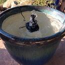 Repurpose Plant Pot Into Water Feature W/ Solar Fountain + Fish