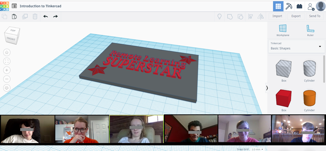 Give an Introductory Lesson in Tinkercad