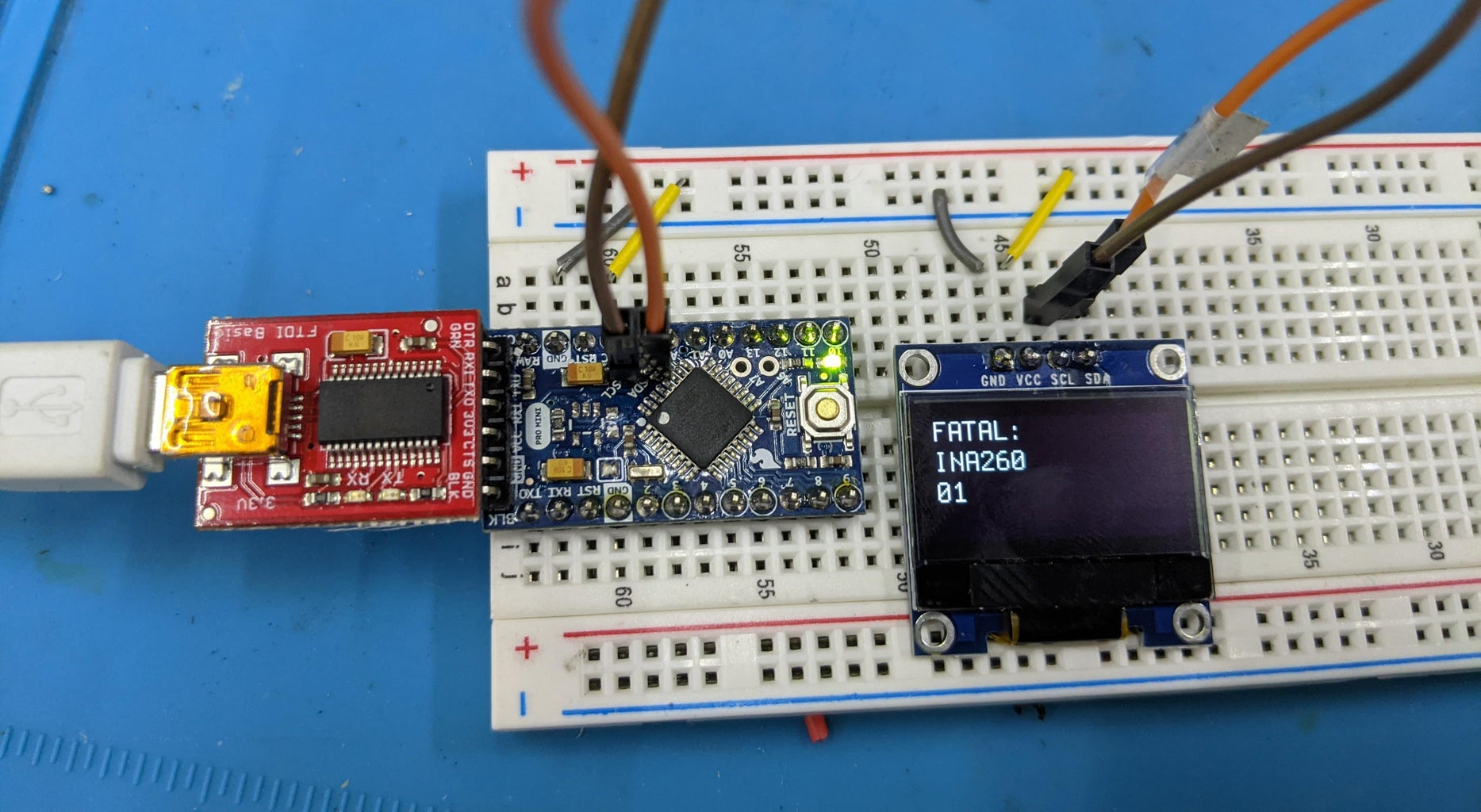 Initial OLED Hookup and Firmware Test