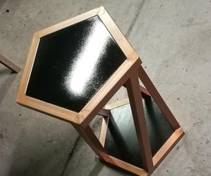 How to Make a Basic Pentagon Stool/Side Table