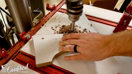 Cut Shape Using Bandsaw / Jigsaw & Drill Relief Hole for Router Bit