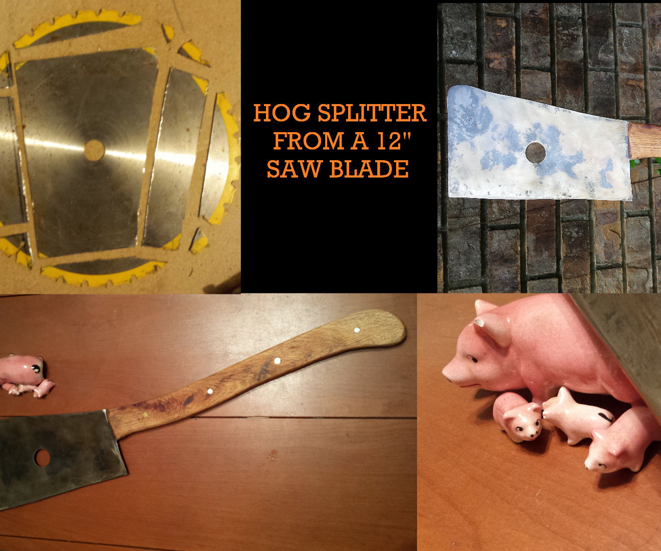 "Hog Splitter from a 12"" Saw Blade"