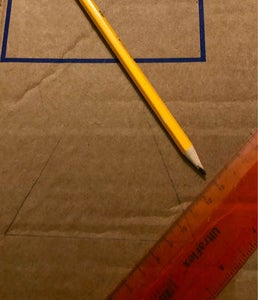 Measure and Cut Cardboard