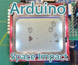 """""""Space Impact"""" Game With Gyro Sensor and Nokia 5110 LCD"""