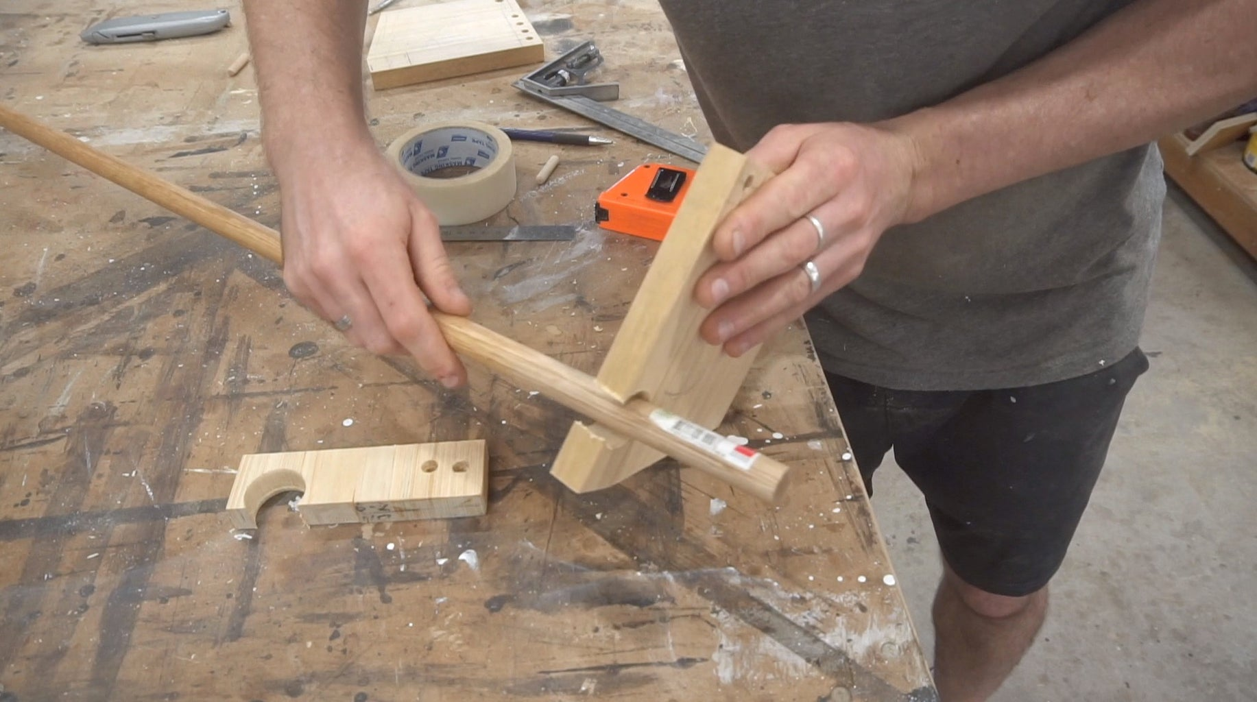Drill Holes for Paper Roll and Paper Guide