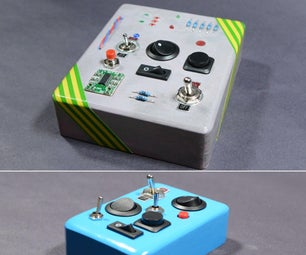 Fidget / Sensory Board With Switches for People Addicted to Clicking