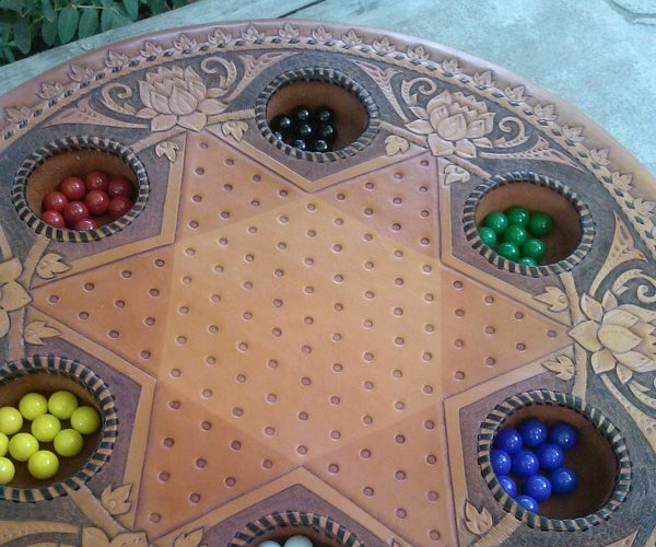 Leather Chinese Checker Board