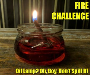 Oil Lamp? Oh, Boy! Don't Spill It!