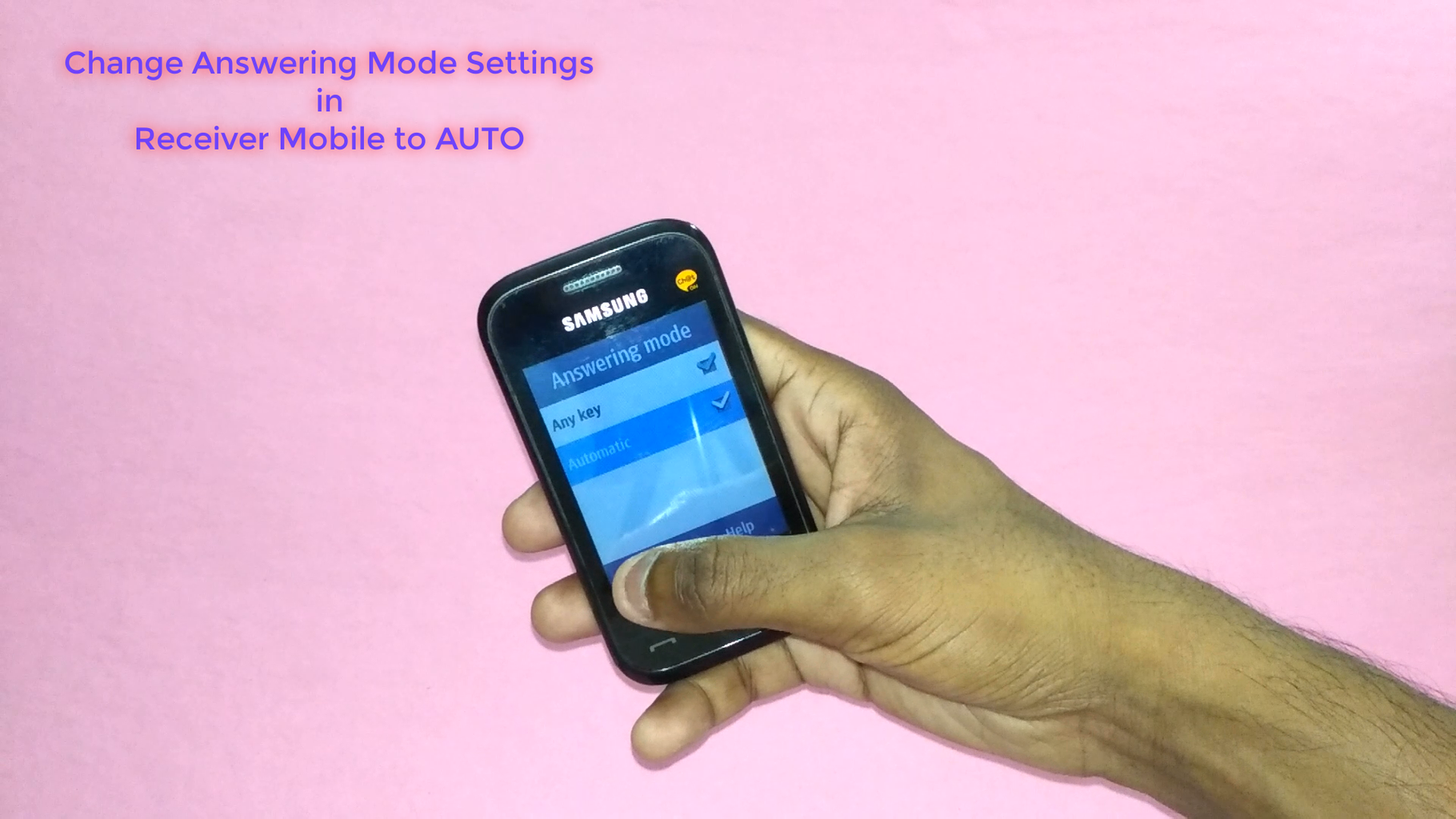 Settings : Change Answering Mode Settings in Receiver Module to AUTO (Headset Mode)