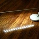 LEDBERG (ikea) easy desk lamp conversion