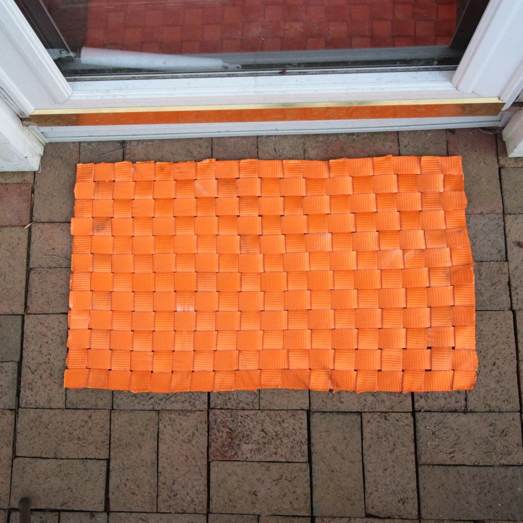 Welcome Mat Woven With Polyester Lashing