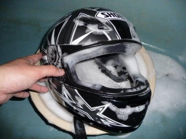 How To: Clean Your Motorcycle Helmet