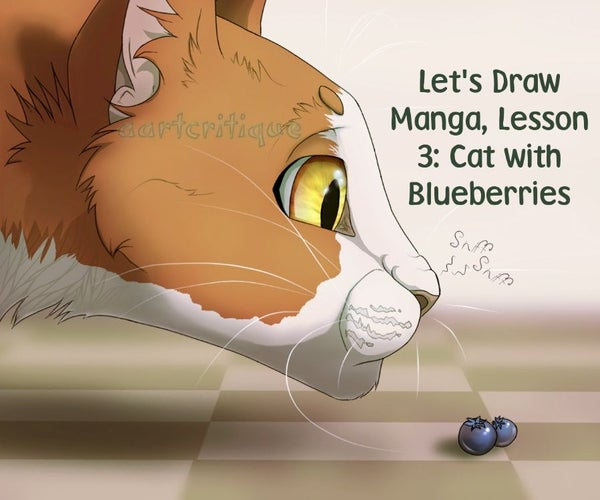 Draw a Cat With Blueberries (let's Draw Manga Lesson 3)
