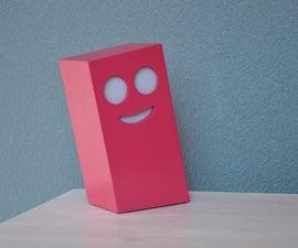 这是一个微笑晚上光或者一个粉色的心情吗?