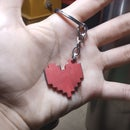 Scrap Wood Undertale Heart Keychain!