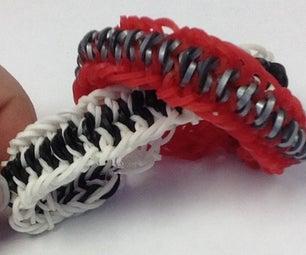 Mustache Rainbow Loom Bracelet