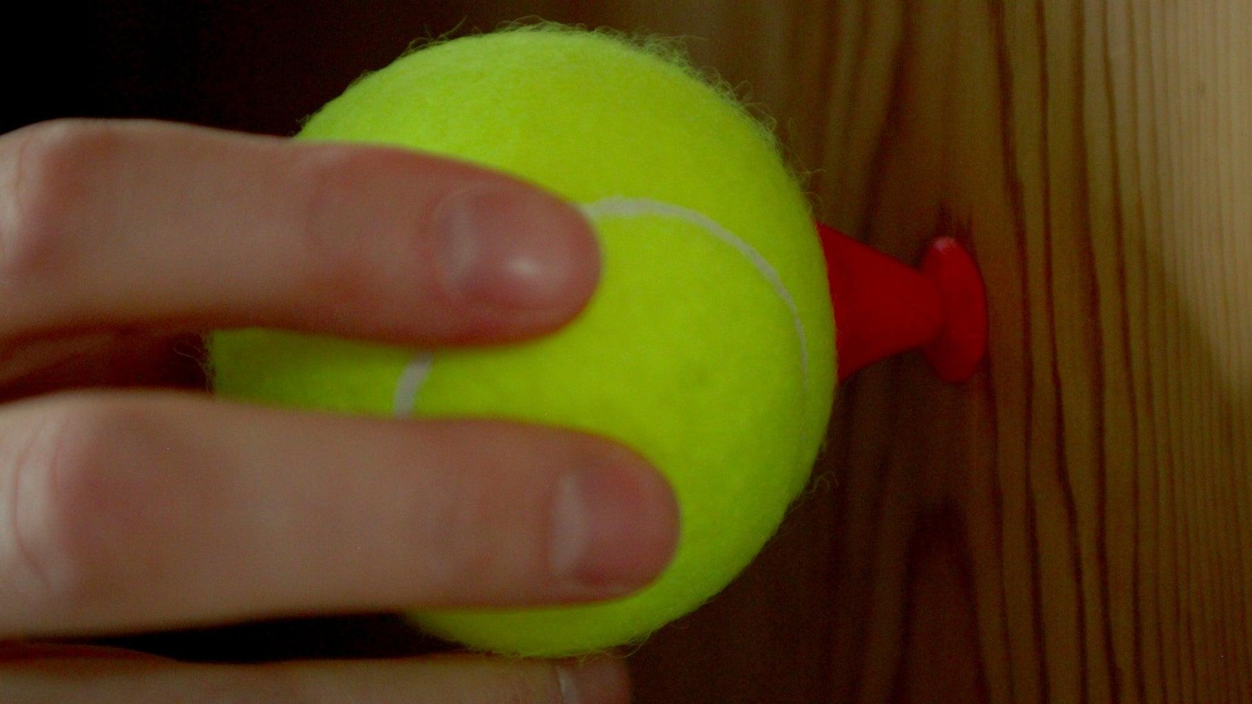 Attaching the Tennis Ball
