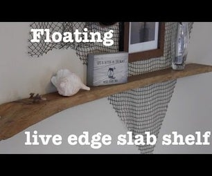 Floating Live Edge Shelf