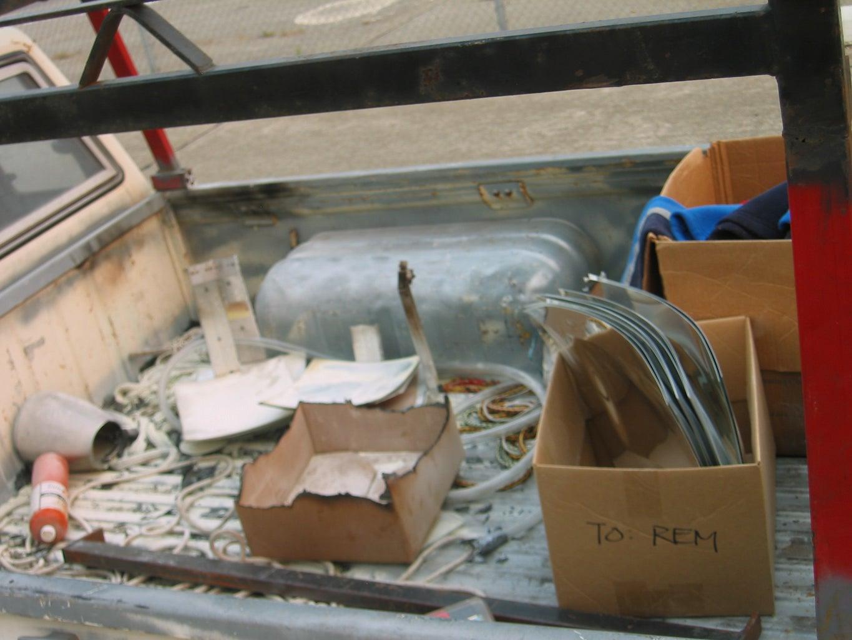 Solar Dish Truck Fire
