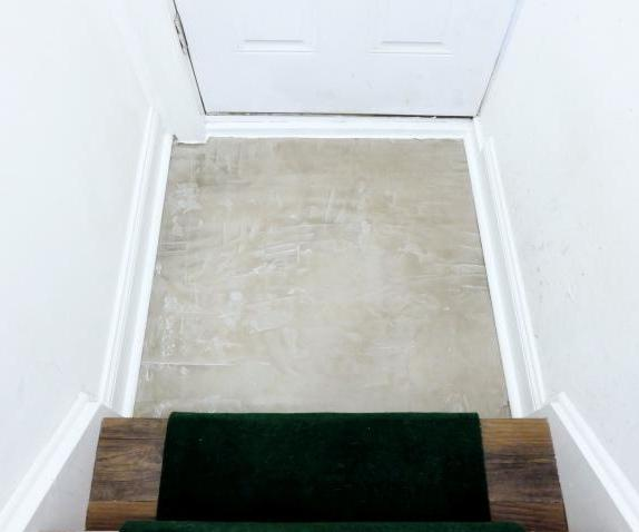 Skim Coat Concrete Floor Cover Up