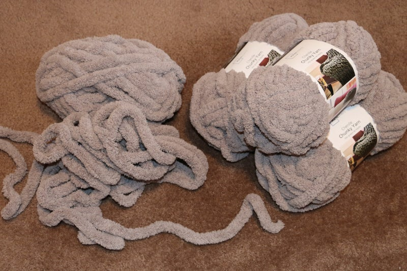 Supplies Needed for Chunky Hand-Knit Blanket