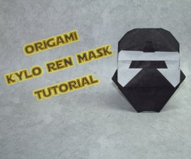 ORIGAMI KYLO REN MASK TUTORIAL (WITH VIDEO!)