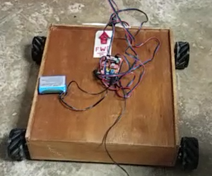 Mecanum Omni Wheels Robot With GRBL Stepper Motors Arduino Shield