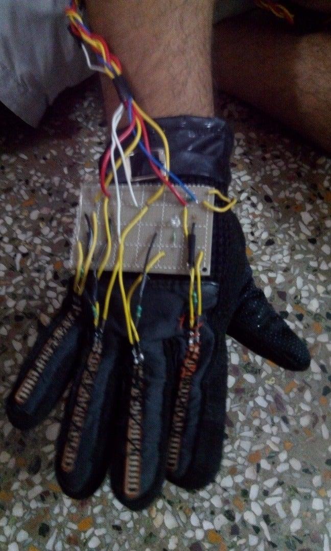 Prepare a Glove With Flex Sensor