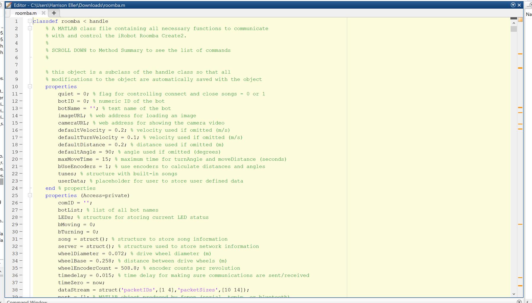Roomba Database File