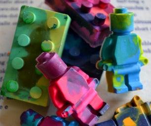 Upcycled LEGO Crayons