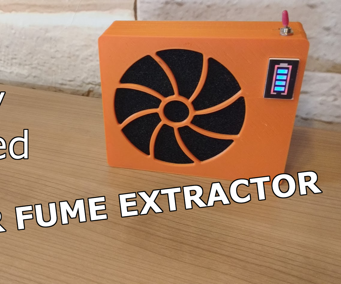 DIY Battery Powered Solder Fume Extractor