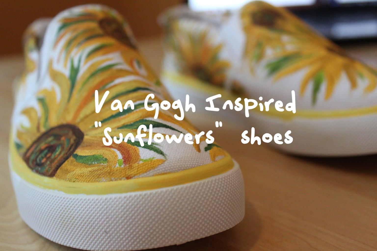 Van Gogh Inspired Yellow Sunflower Shoes