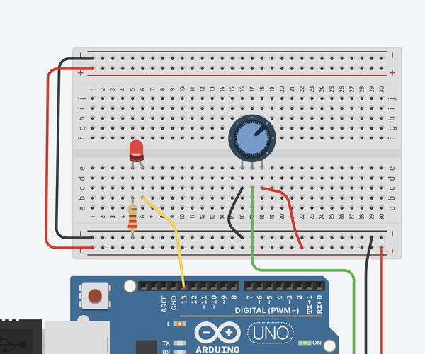 Read a Potentiometer With Arduino's Analog Input