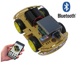 Video Stream and Control by Smartphone 4WD Robot Car (over Bluetooth)