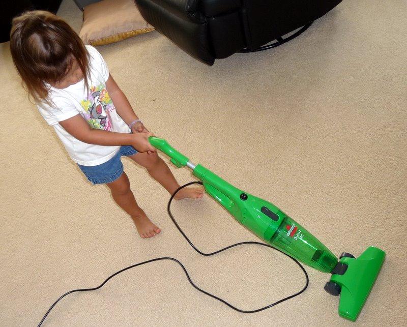 Kids sized vacuum cleaner