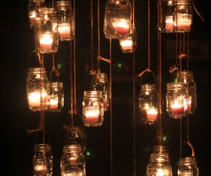 Mason Jar Candle Chandeliers