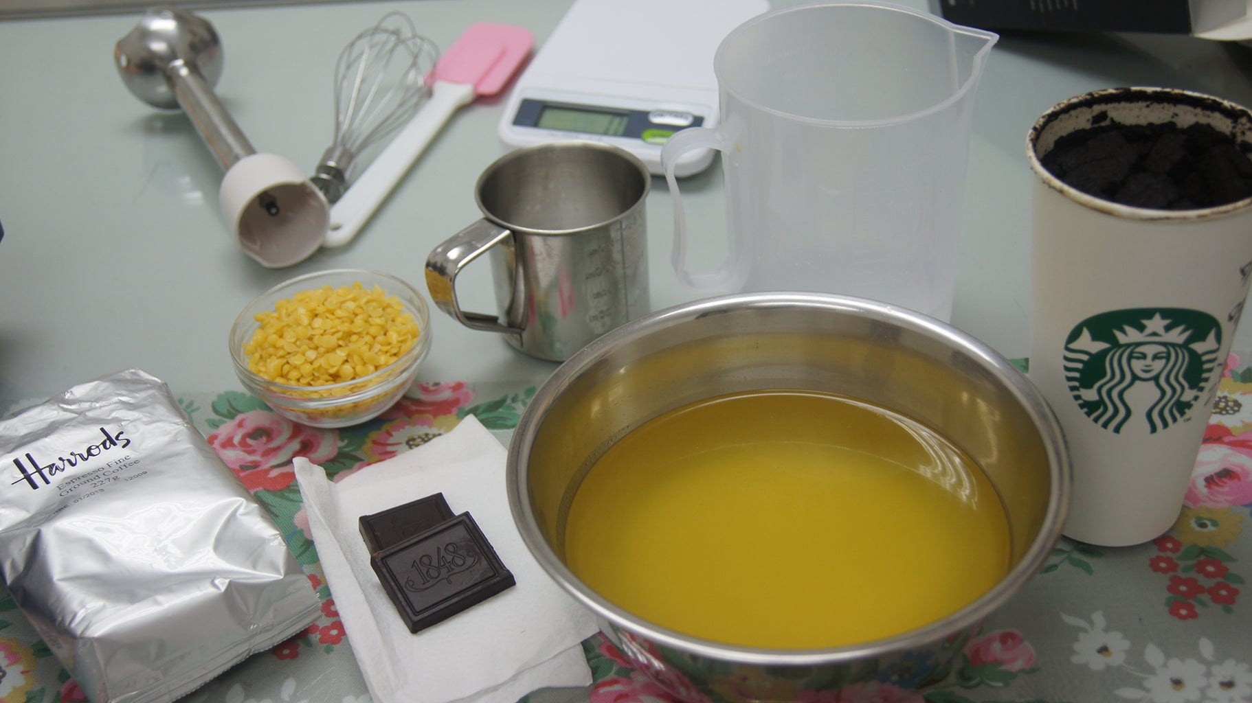 Cold Process Chocolate Coffee Soap Making