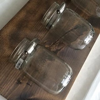Mason Jar: Hanging Bathroom Organizer