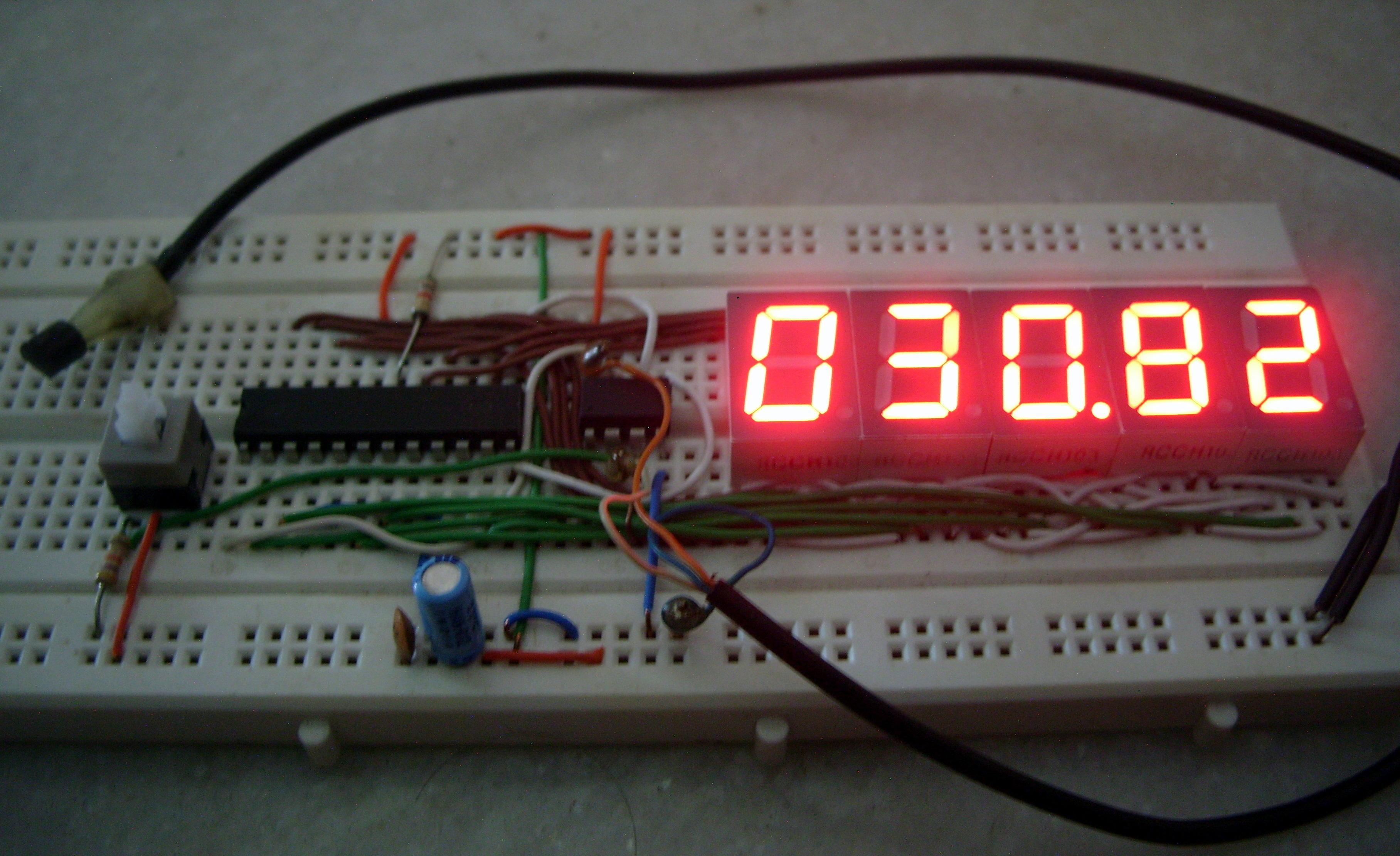 7 Segment Digital Thermometer using ATtiny 85